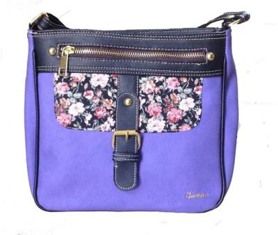 SWEERA Women Purple PU Sling Bag