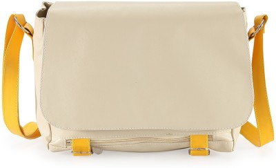 Goodwill Leather Art Girls, Women Evening/Party, Festive, Formal, Casual Beige, Yellow PU Sling Bag