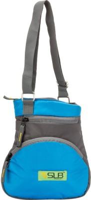 SLB Women, Girls Casual Grey, Blue Canvas Sling Bag