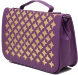 Elysin Women Purple PU Sling Bag