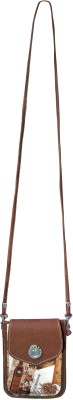 Bagathon India Girls Brown Canvas Sling Bag