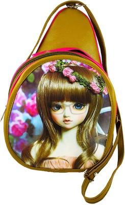 Harini Girls, Women Gold, Pink PU Sling Bag