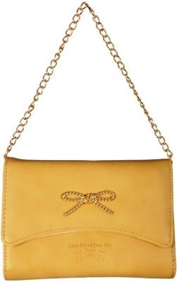 Lizzie Women Tan PU Sling Bag