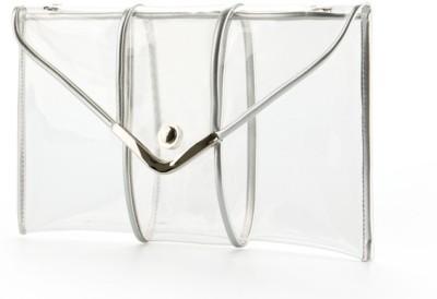 Elizabeth Tailleur Women Casual Silver PU Messenger Bag