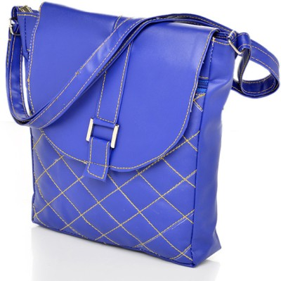 Felicita Girls Casual, Formal Blue PU Sling Bag
