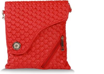 inkdice Women Red PU Sling Bag