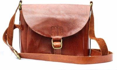 craftelephant Women Red Genuine Leather Sling Bag