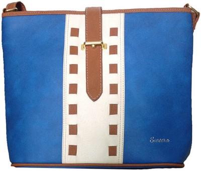 SWEERA Women Blue PU Sling Bag