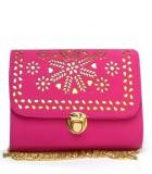 Fashion Knockout Women Pink Leatherette ...
