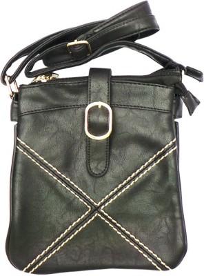 Bhamini Women Casual Black PU Sling Bag