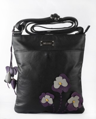 Klasse Women Casual Beige Genuine Leather Sling Bag