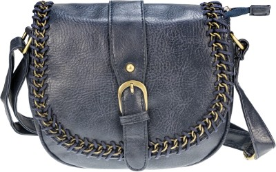 Neuste Women, Girls Blue Leatherette Sling Bag