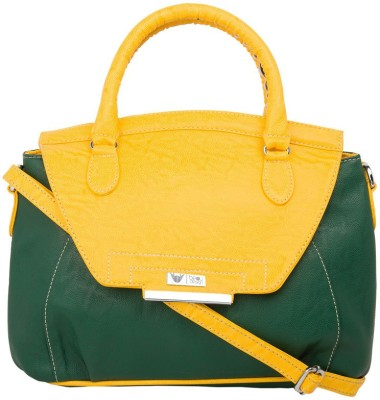 Beau Design Women Casual Yellow PU Sling Bag