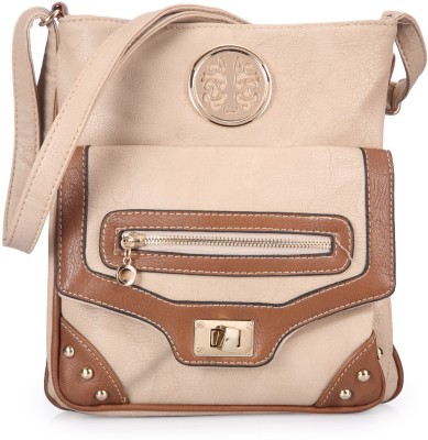 Bags Craze Women Casual Beige PU Sling Bag