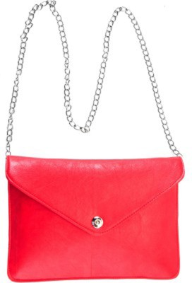 Ellye Girls Evening/Party Red PU Sling Bag