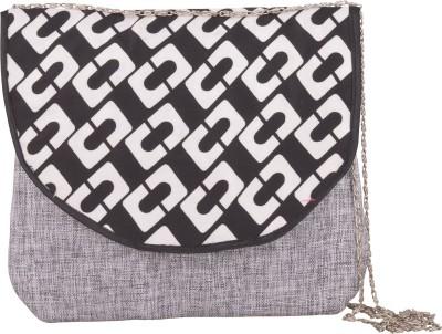 Arisha kreation Co Women Grey Cotton Sling Bag