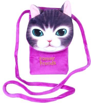 FabSeasons Boys, Girls Purple Velvet Sling Bag