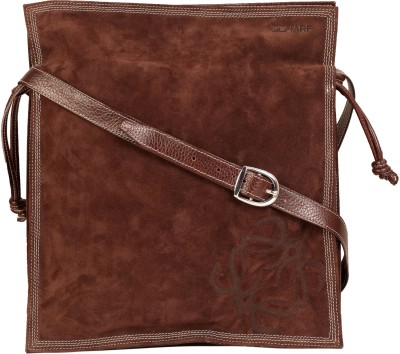 Scharf Men Brown Genuine Leather Sling Bag