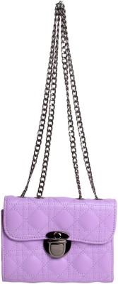 Reedra Women Purple PU Sling Bag