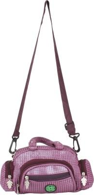 Red Rose Women Purple PU Sling Bag