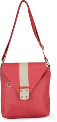 Bags Craze Women Red PU Sling Bag