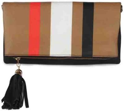 Zoe Makhoa Girls, Women Brown Leatherette Sling Bag