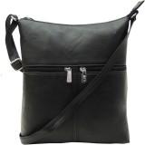 Mex Women Black Leatherette Sling Bag