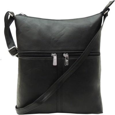 Mex Girls, Women Black Leatherette Sling Bag