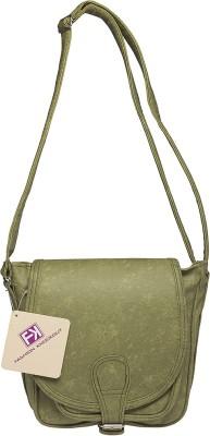 Fashion Knockout Girls Green PU Sling Bag