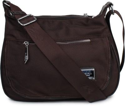 Do Bhai Women Brown PU Sling Bag