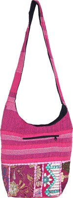 Jaipuri Haat Girls Pink Cotton Sling Bag