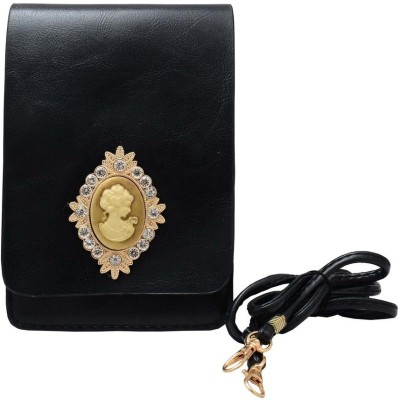 Shopaholic Fashion Women Black PU Sling Bag