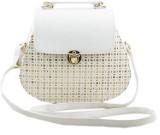 Voaka Women White PU Sling Bag