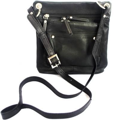 Modish Women Casual Black Genuine Leather Sling Bag