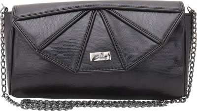 Yelloe Women Black PU Sling Bag
