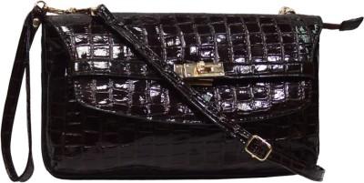 Hi Look Women Casual Brown PU Sling Bag