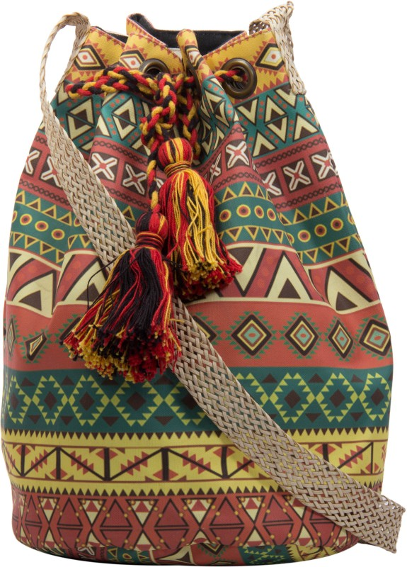 The House of Tara Women Casual, Evening/Party Multicolor Canvas, Polyester Sling Bag Printed