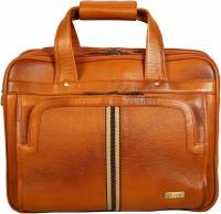 Scharf Men Tan Genuine Leather Messenger Bag