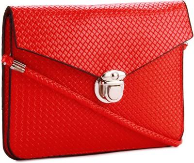 Alessia Women Casual Red PU Sling Bag