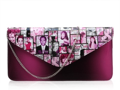 Contrast Girls Evening/Party Pink PU Sling Bag