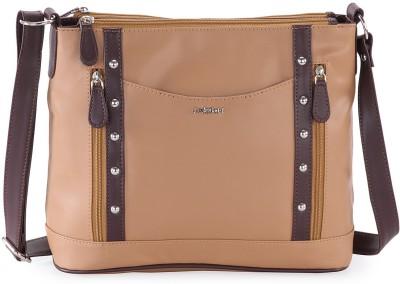 Lady World Girls, Women Brown PU Sling Bag