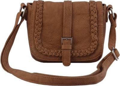 Lychee Bags Girls Beige PU Sling Bag