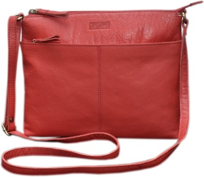 Le Craf Girls Casual Red Genuine Leather Sling Bag