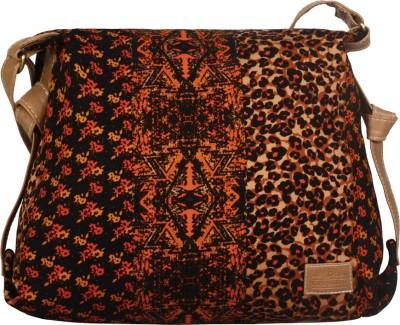 Lapis O Lupo Women Casual Black PU Sling Bag