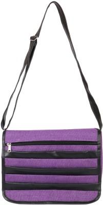 Benicia Women Purple Jute Sling Bag