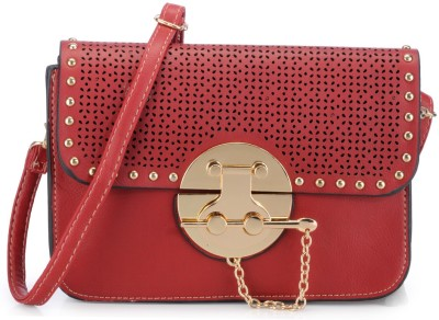 Naitik Products Women Casual Red PU Sling Bag