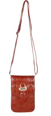 FabSeasons Girls, Women Brown PU Sling Bag