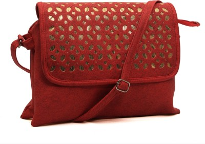Pochette Girls, Women Red PU Sling Bag