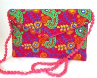 The Indian Handicraft Store Girls Multicolor Cotton Shoulder Bag