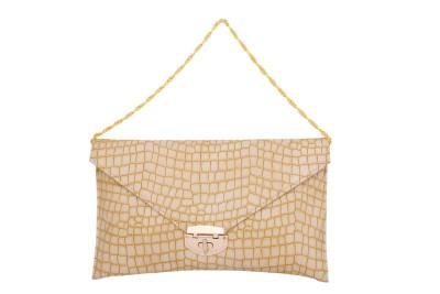 Cheery Women Beige PU Sling Bag
